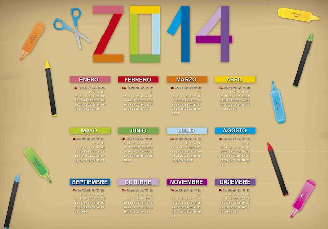 Calendario 2014 Para Photoshop