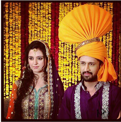 Atif Aslam - Sara Bharwana Wedding Picture
