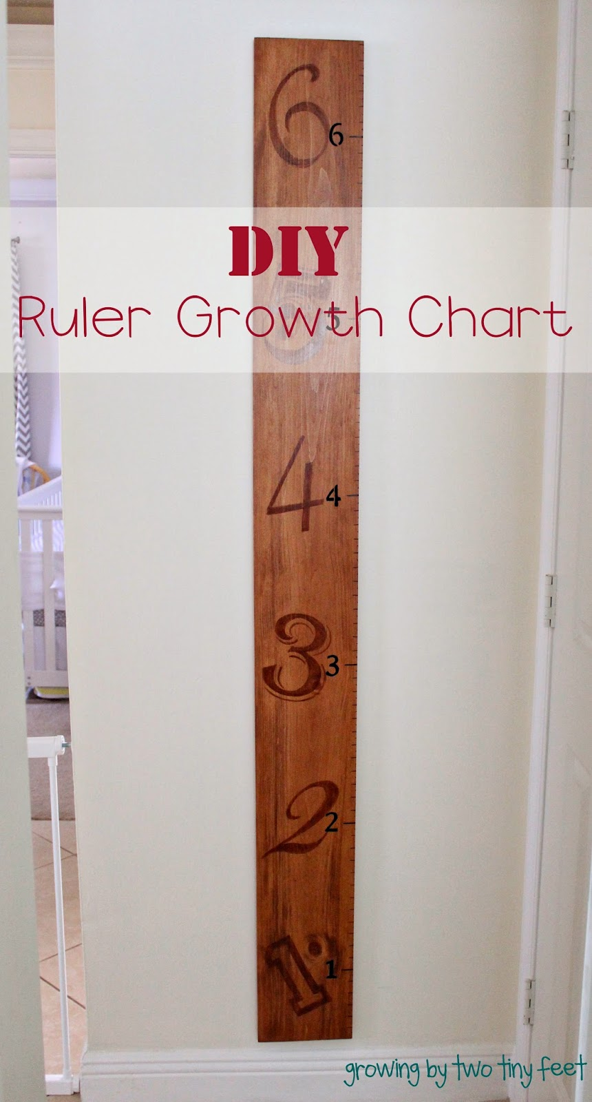 Growing By Two Tiny Feet Diy Giant Ruler Growth Chart