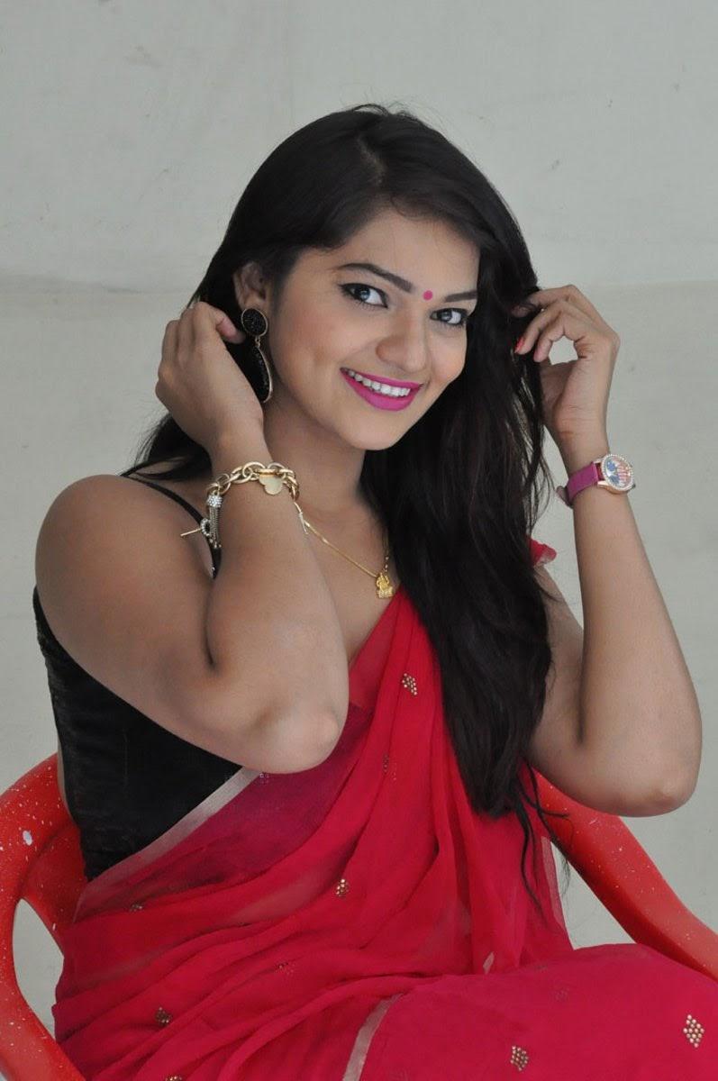 hq pics n galleries ashwini hot photos in red saree at hora hori platinum disc function