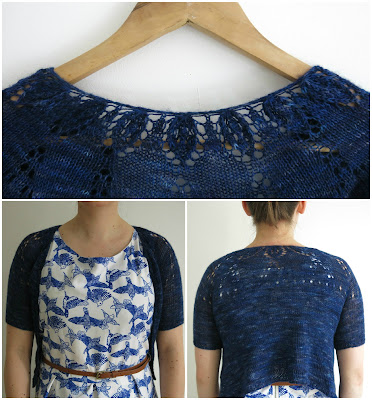 cropped cardigan lace knitting pattern