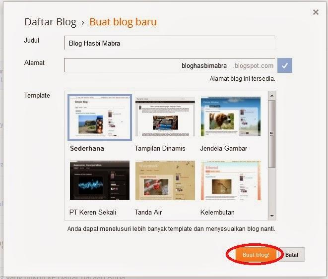 cara kedua buat blog baru
