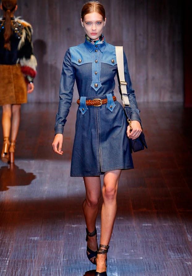 Vestido denim Gucci Primavera Verano 2015