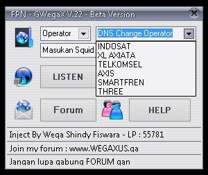 Inject XL Indosat Telkomsel FPN - GWegaX V.22 25 Juni 2015