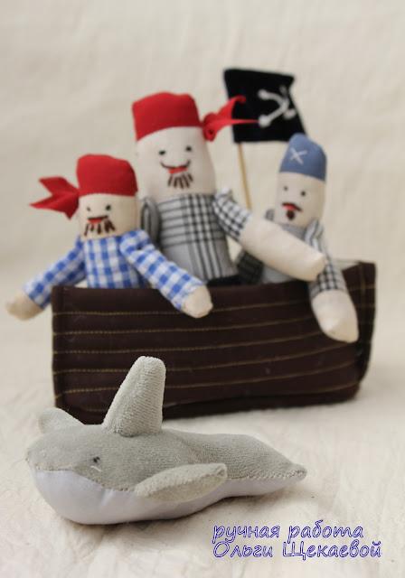 пираты, акула