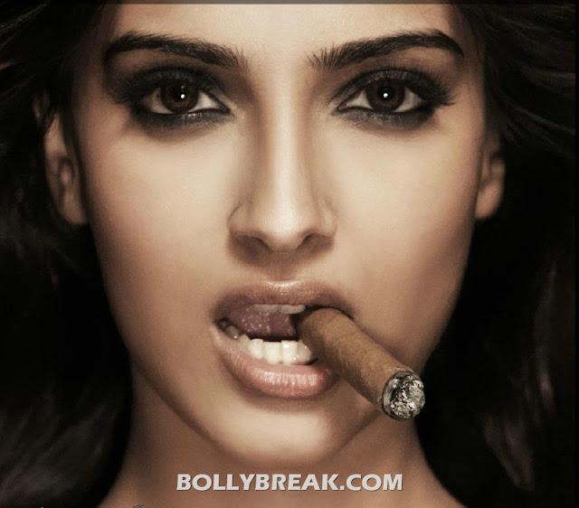 Sonam Kapoor Cigar Smoking Photoshoot Pics