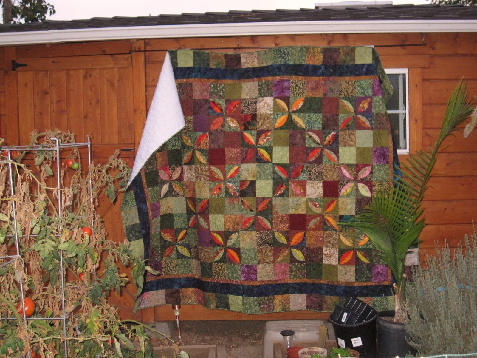 sunshine in the attic briana 39 s quilt hanging on the