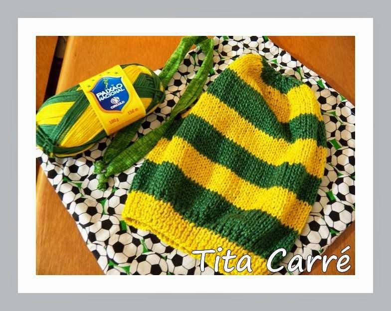 Gorro Brasil para Copa em tricot