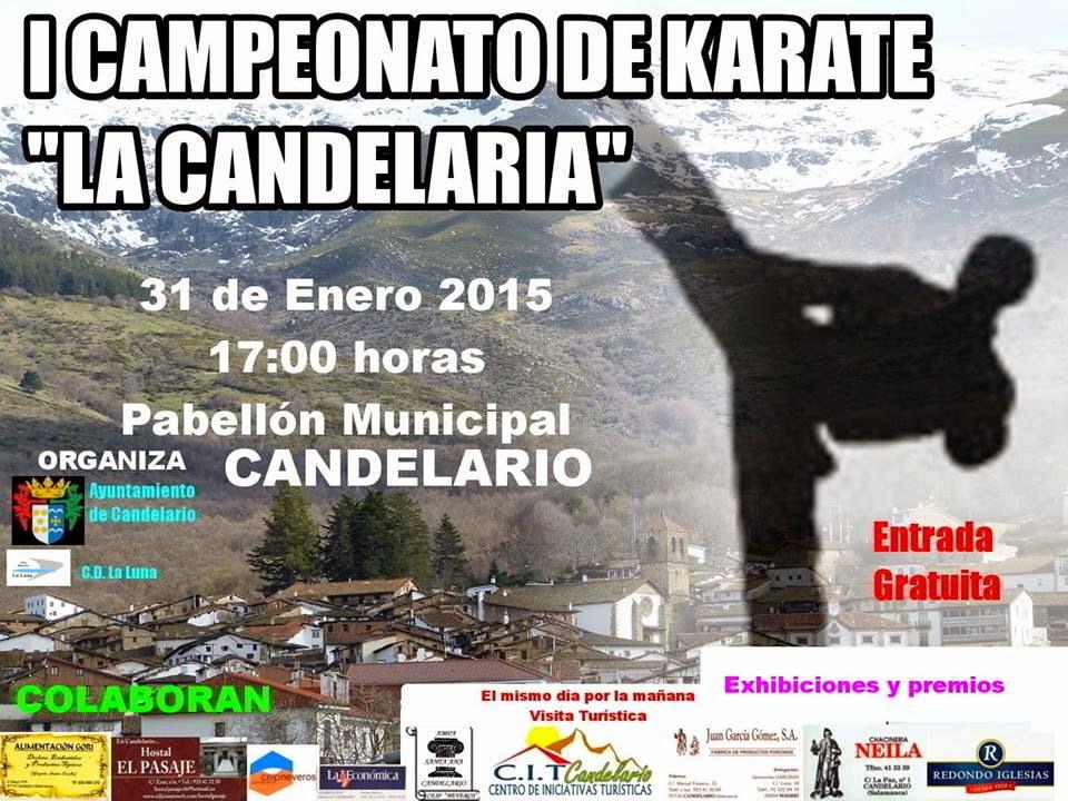 Cartel del primer campeonato de karate en candelario salamanca