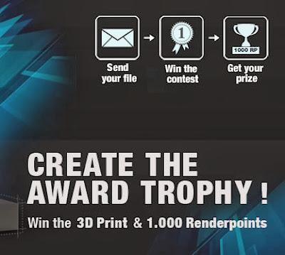 Menangkan Lomba Desain 3D RebusFarm 3D Award Trophy