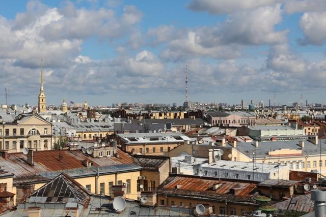Vistas desde el Restaurante del Kempinski Hotel Moika