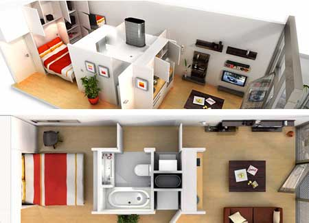 Maximizing Space In A Small Apartment Classy With Small Space Living Ideas Image
