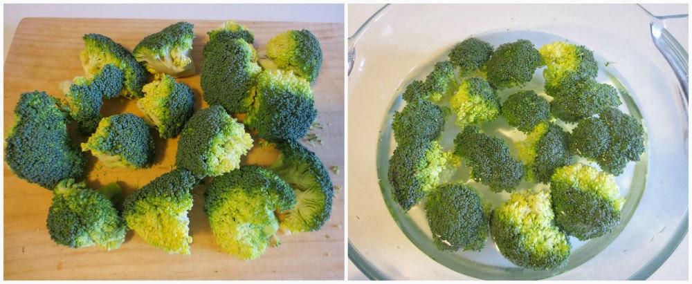 Cortar y lavar brócoli