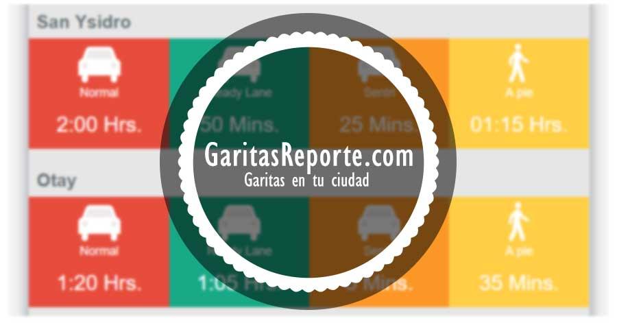 TIEMPO DE ESPERA DE CRUCE DE GARITAS