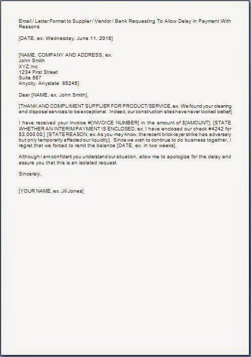 payment extension request letter