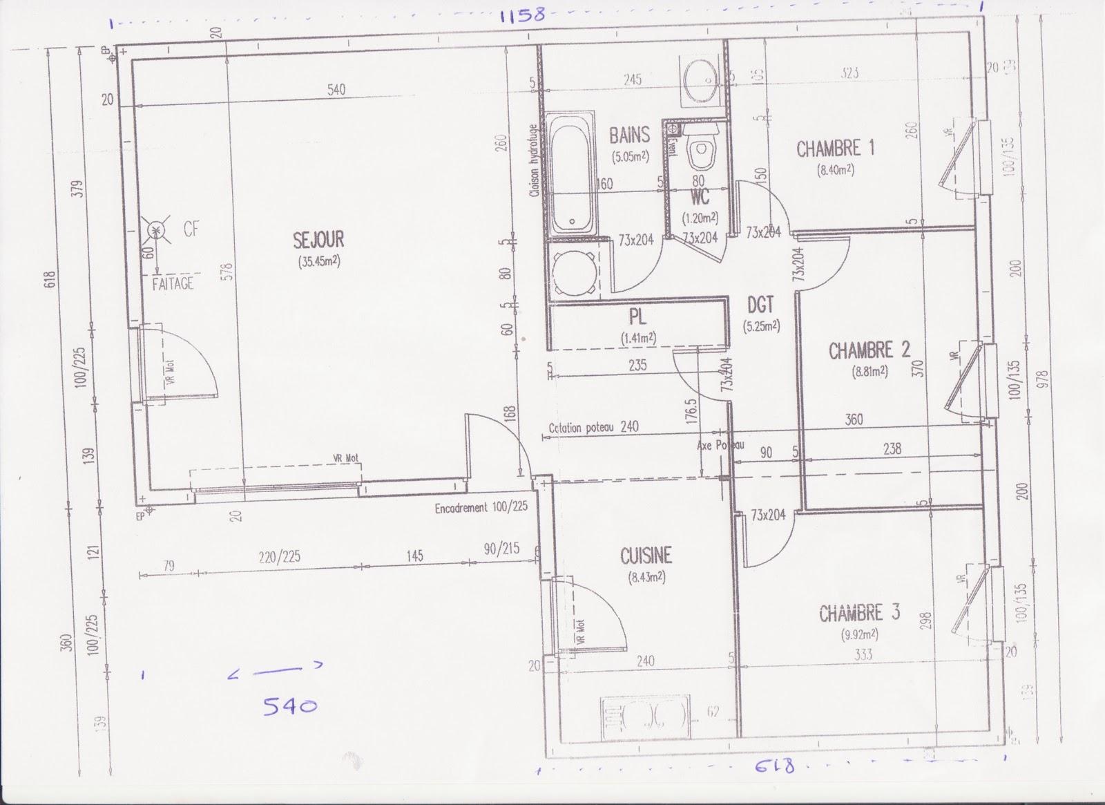 Maison phenix plan finest maison phenix plan with maison phenix plan trendy dtail du plan de - Plan maison phenix ...