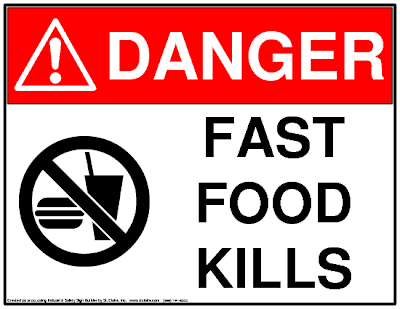 Fast food contains potentially dangerous chemicals that can also be found in cosmetics.