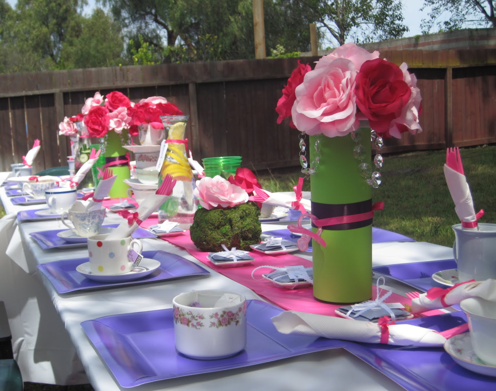 next up my bridal shower the same lovely friend whose baby shower i