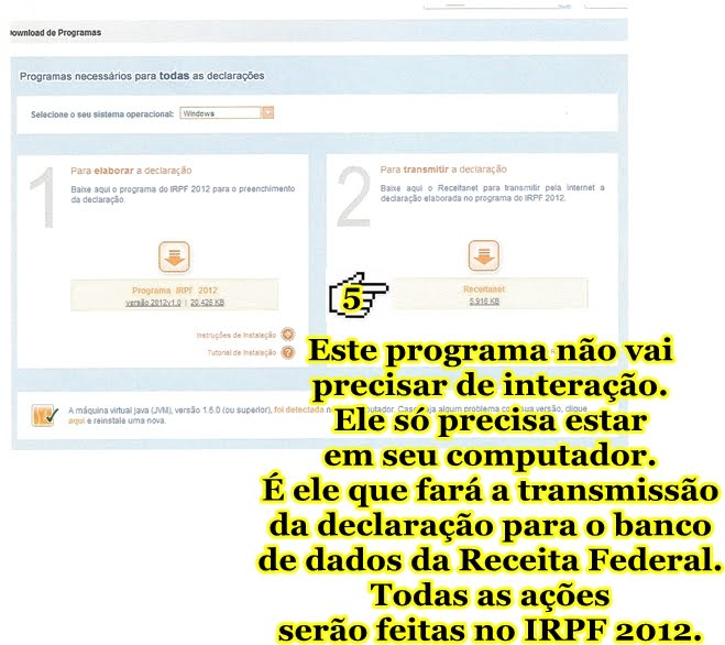 5 - BAIXANDO O PROGRAMA DO IMPOSTO DE RENDA 2012 (PESSOA FÍSICA)