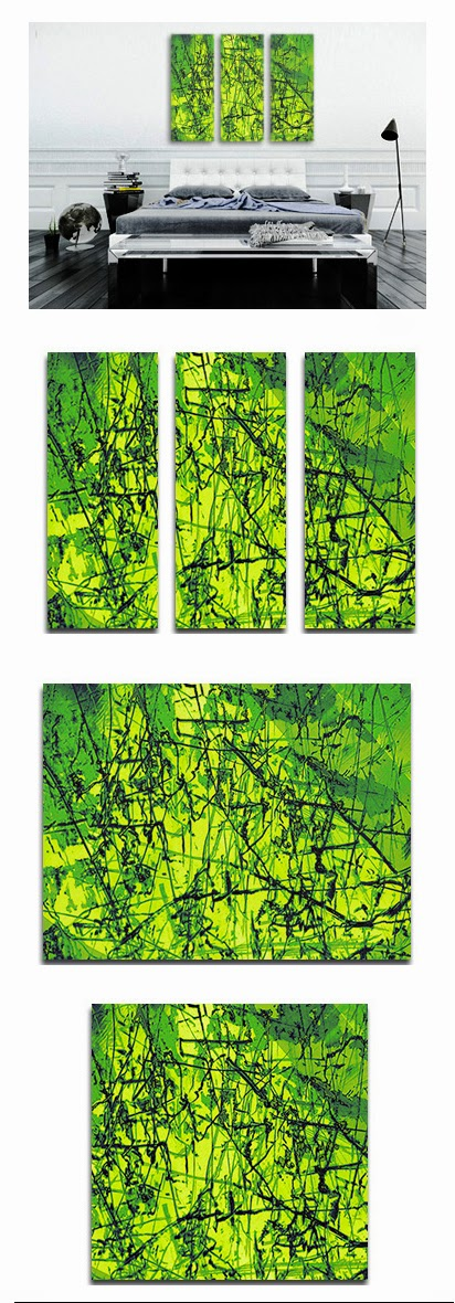 green, abstract, canvas art, wall art, industrial, canvas print, modern, contemporary, buy online,