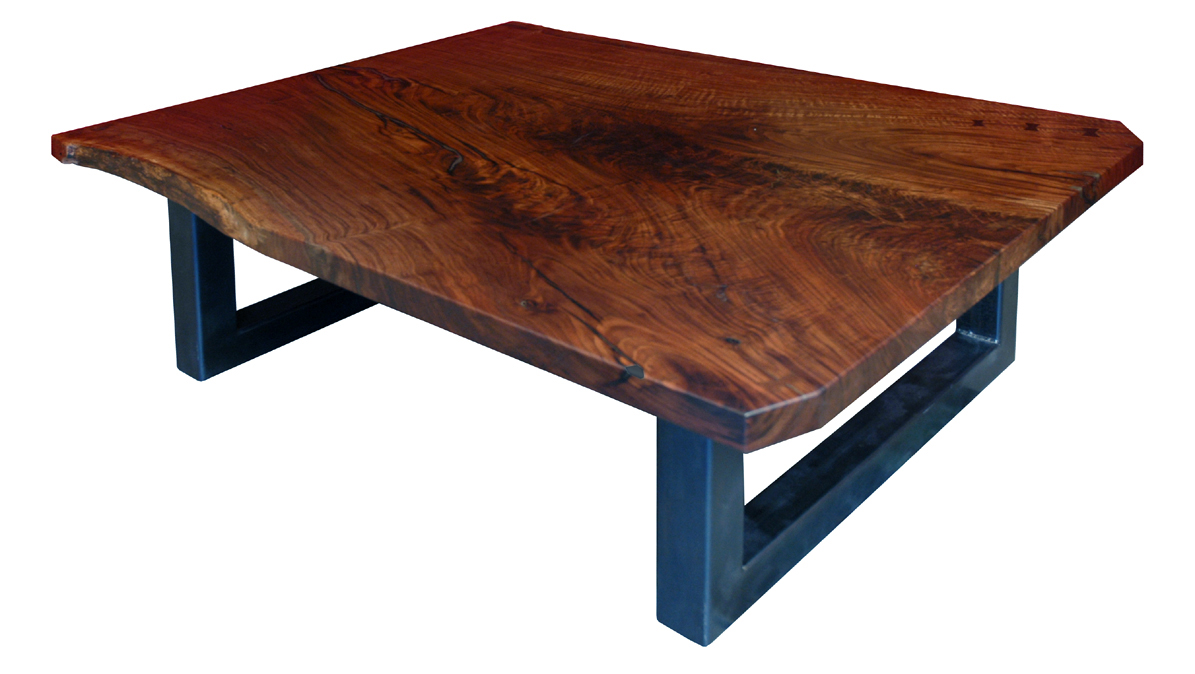 Walnut slab coffee table - From The Art And Industries Show Last Summer