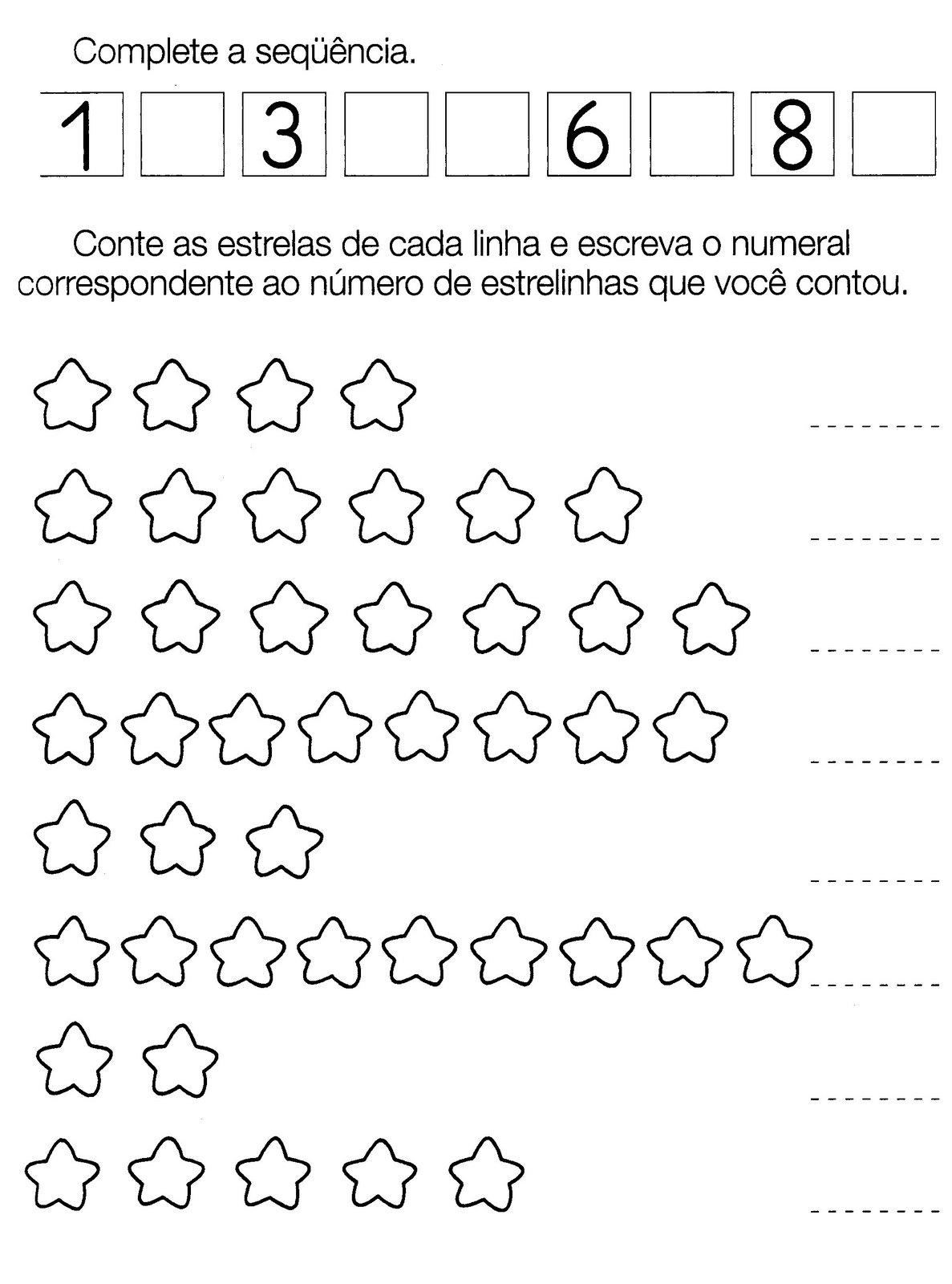 Top Aprendendo Quantidade - Atividades para Educação Infantil  US59