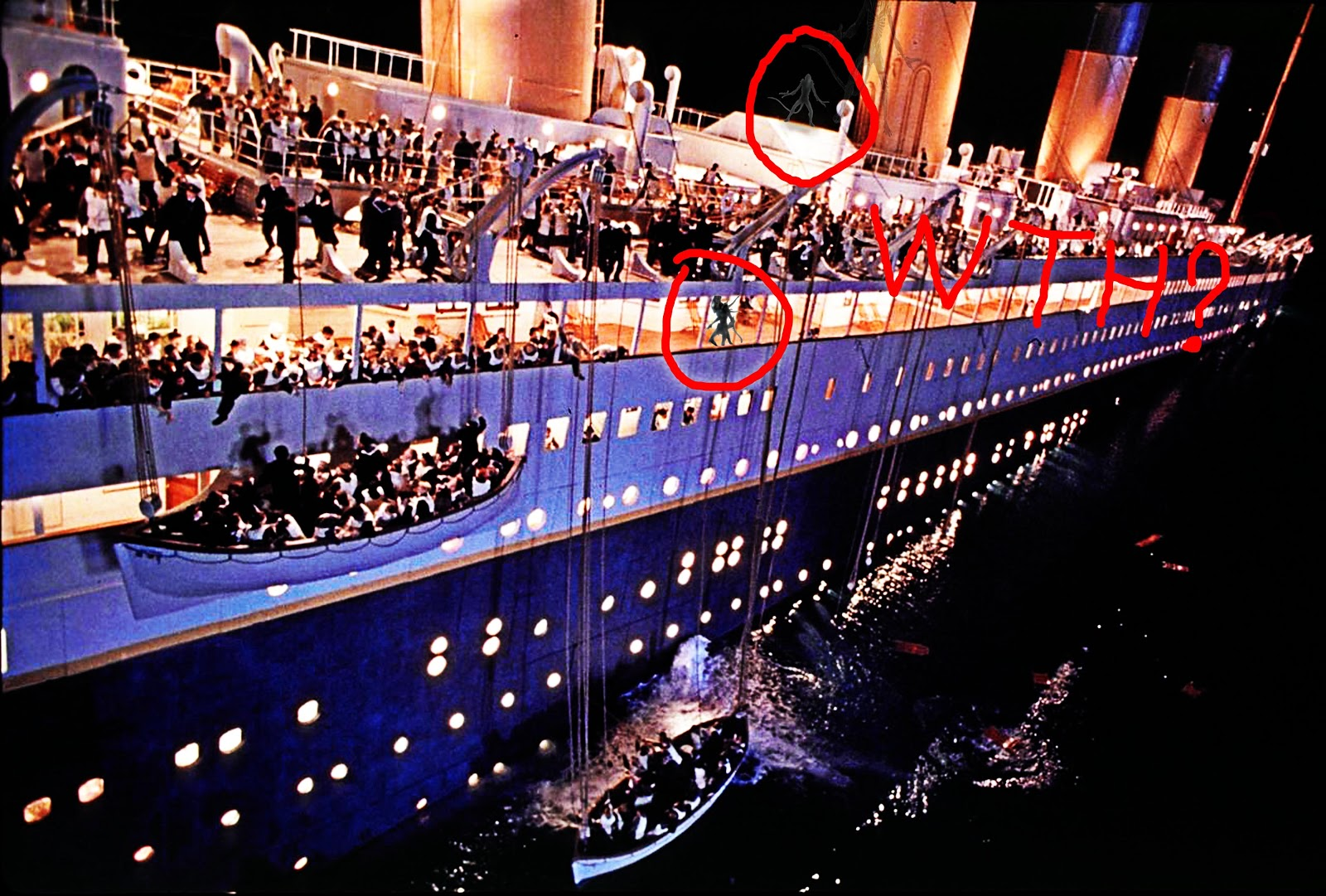 why did the titanic sank The titanic sank because it hit an iceberg, and the iceberg did so much damage to the ship, and in the wrong place that it was doomed to sink laredo 9 years ago 2.