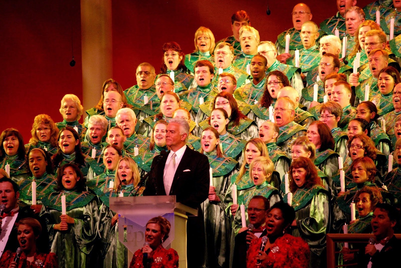 a beloved annual event at epcot the candlelight processional is the retelling of the christmas story by a celebrity guest a mass choir consisting of cast - The Christmas Choir Cast