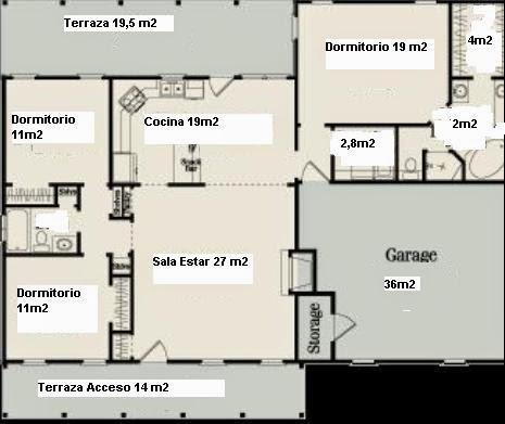 Planos de casas planos de casas 100m2 for Planos de cocinas de 9 metros cuadrados