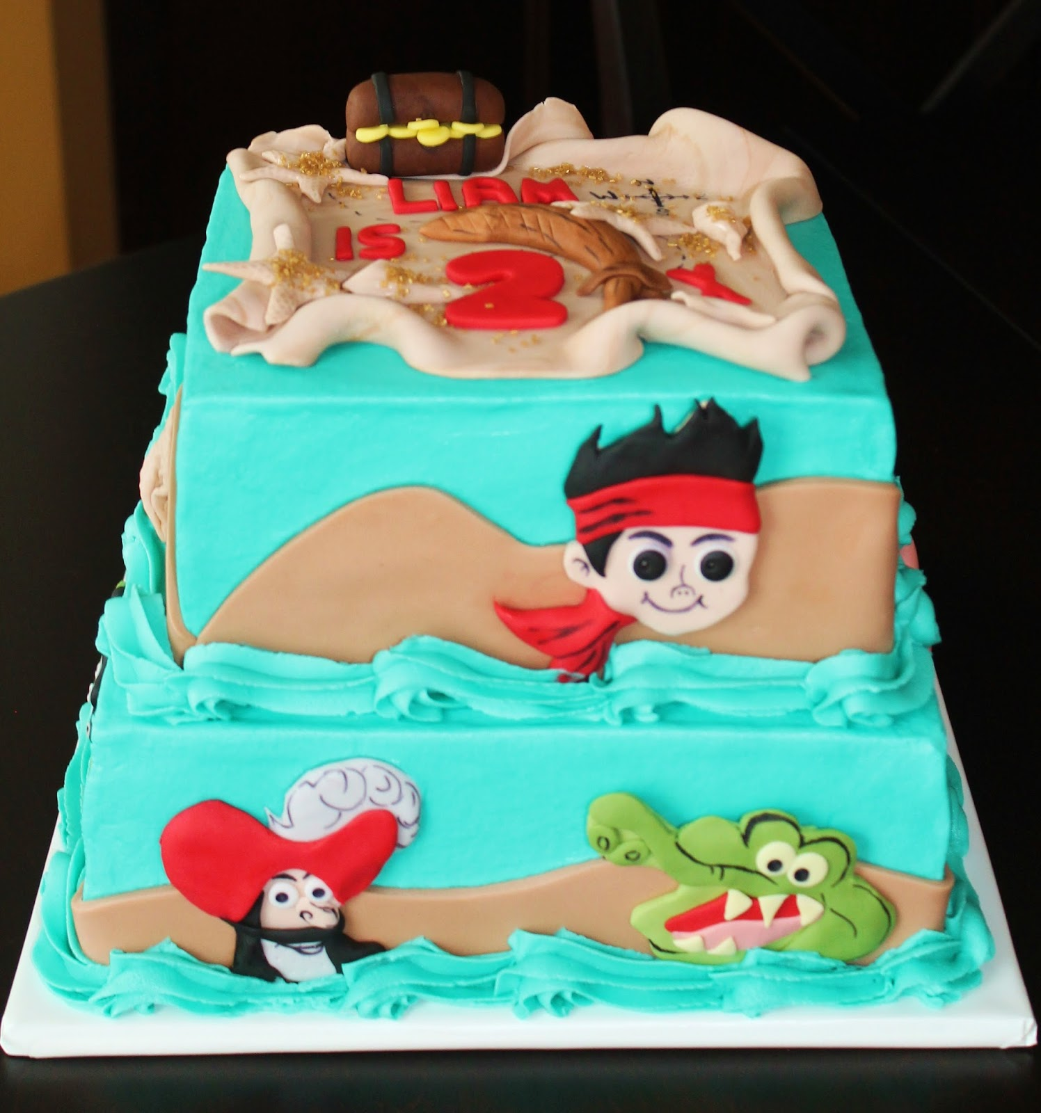 jake and the neverland pirates tiered cake - photo #8