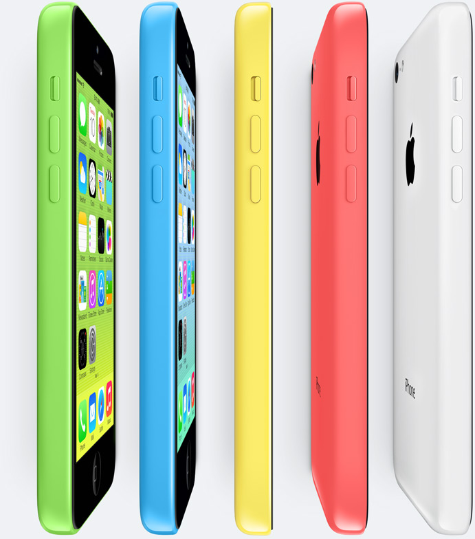 The iPhone 5C (marketed with a stylized lowercase 'c' as iPhone 5c) is a smartphone that was designed and marketed by Apple Inc. It is the seventh generation of the iPhone.