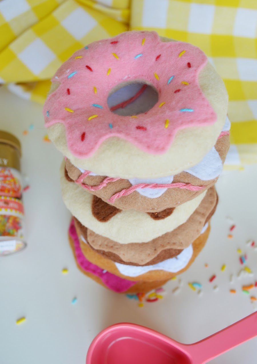 DIY Felt donuts // Amy MacLeod - Five Kinds of Happy blog