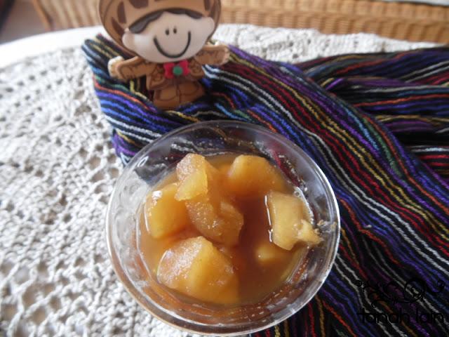 Receta de un rico postre Manzanas Jalisco