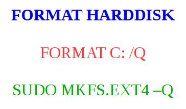 cara memformat harddisk