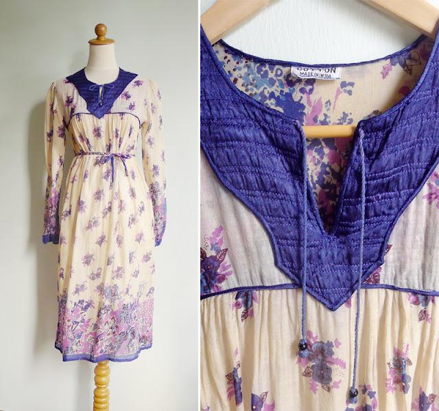 vintage anokhi indian dress