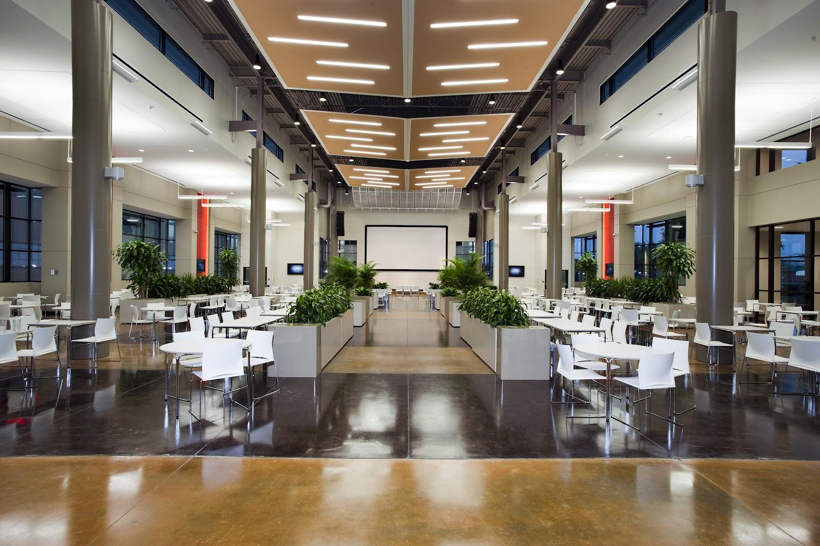 Dallas design corporate cafeteria 39 s for Architects corporation