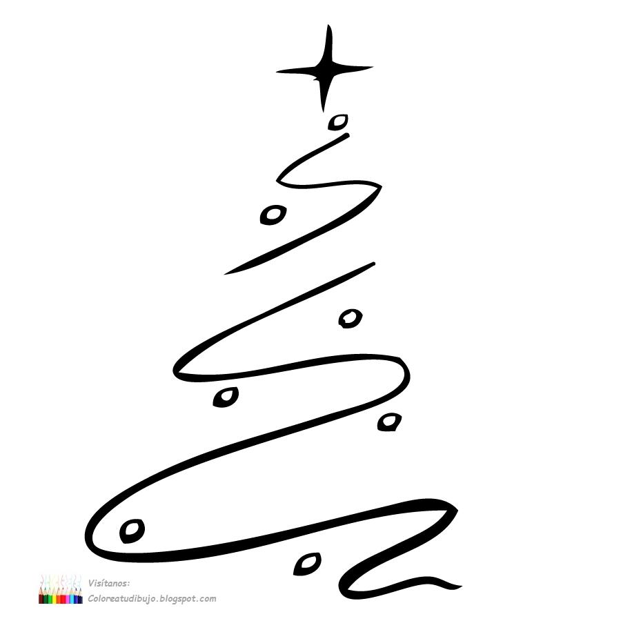 Dibujos Arbol De Navidad Para Imprimir. Rbol Con Diseo Especial Para ...