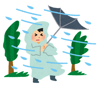 暴風雨のイラスト