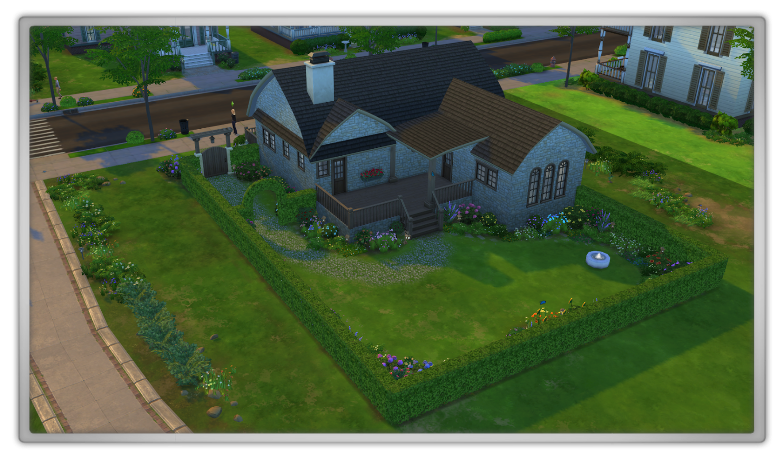 Marjolein kucmer the sims 4 review creating a cute for Garden design sims 4