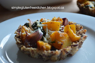 Balsamic Squash and Kale in Rice Tarts