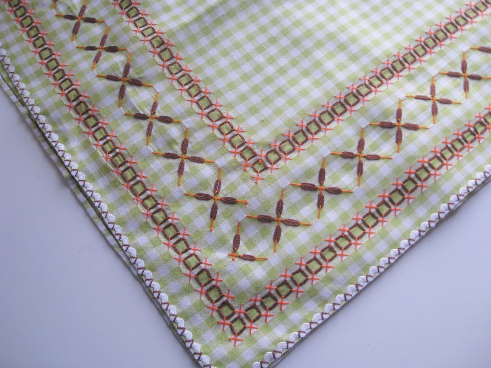 Vickis Fabric Creations Vintage Chicken Scratch Tablecloth