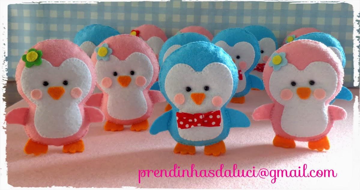 pinguins fofinhos em feltro lembrancinhas de aniversário