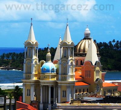 Vista aéra da Catedral de São Sebastião, em Ilhéus - Bahia