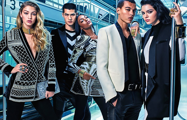 Balmain x H&M Campaign 2015 is glamorous with Kendall, Gigi and Jourdan