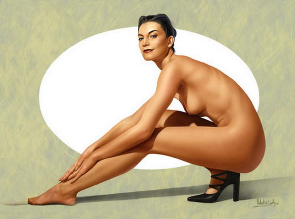 Cuerpos de mujer, desnudos, pintura de figuras