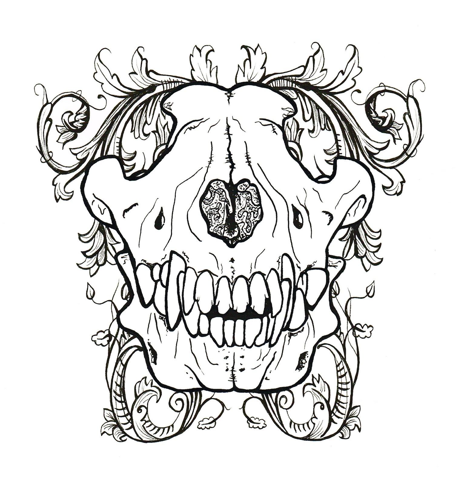 gemma louise hawkins wolf skull and filigree. Black Bedroom Furniture Sets. Home Design Ideas
