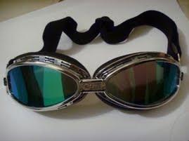 Óculos Goggle Aviador Espelhado Motociclista Capacete Moto