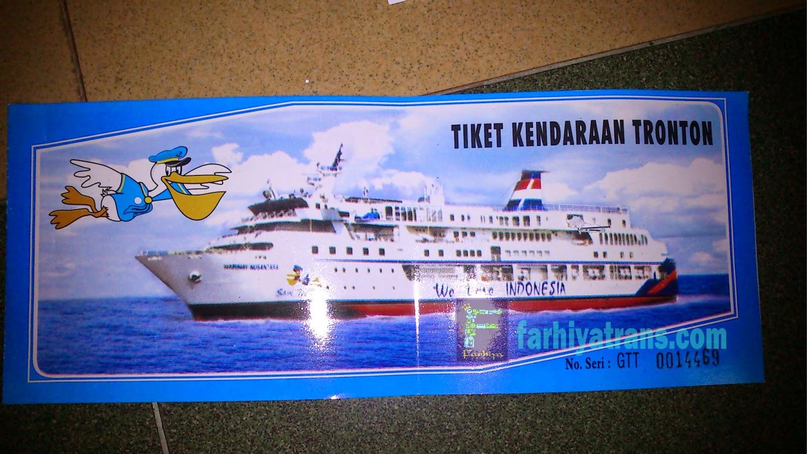 tiket kapal roro kirim tronton dari surabaya ke balikpapan