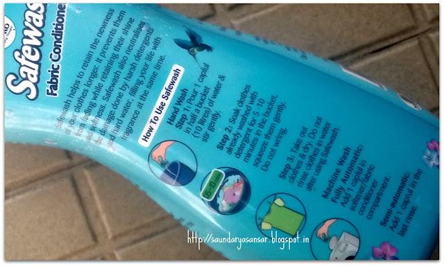 Safewash Fabric Conditioner- Ocean Breeze : Review