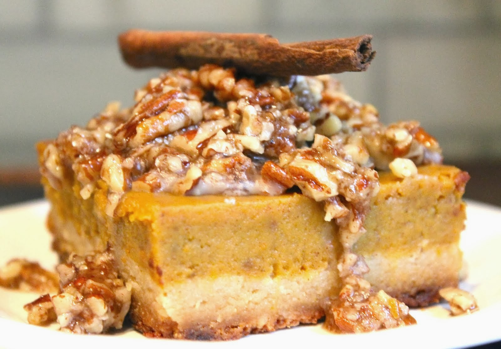 Honey Pecan Pumpkin Pie Bars